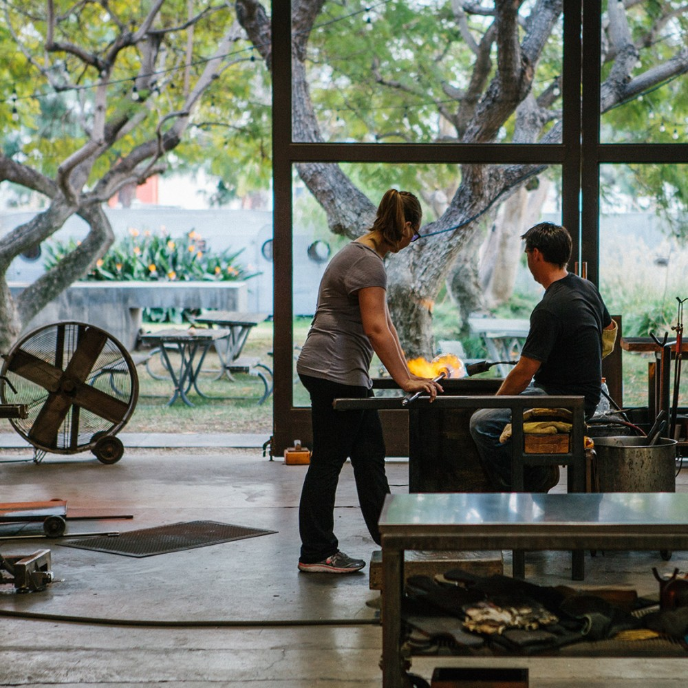californian glassblowing studio by siemon and salazar